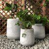 DurX-litecrete Lightweight Concrete Cylinder Light Grey Planter – Set of 3 3