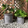 DurX-litecrete Lightweight Concrete Cilindro Dark Grey Planter – Set of 3 3