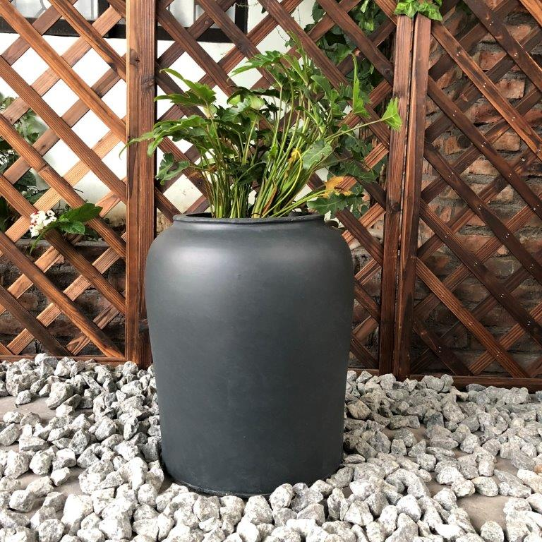 DurX-litecrete Lightweight Concrete Tall Sauerkraut Pot Granite Planter
