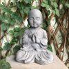DurX-litecrete Lightweight Concrete Lifely Buddha Light Grey Sculpture 2