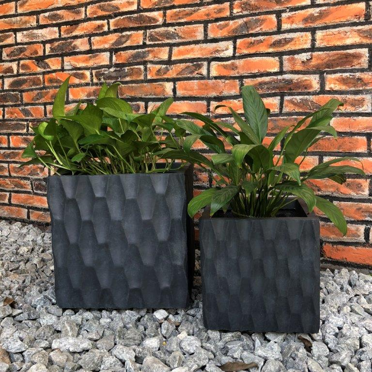 DurX-litecrete Lightweight Concrete Rough surface Granite Planter-Cube