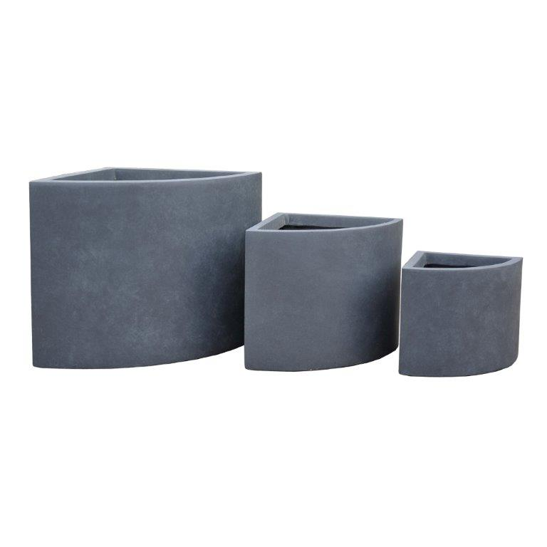 DurX-litecrete Lightweight Concrete Short Corner Granite Planter