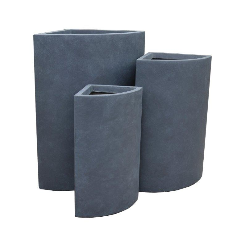 DurX-litecrete Lightweight Concrete Tall Corner Granite Planter