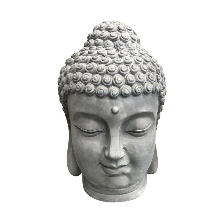 DurX-litecrete Lightweight Concrete Lifelike Buddha Light Grey Sculpture