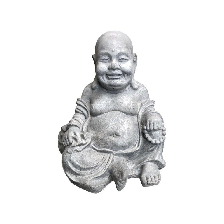 DurX-litecrete Lightweight Concrete Cute Buddha Light Grey Sculpture