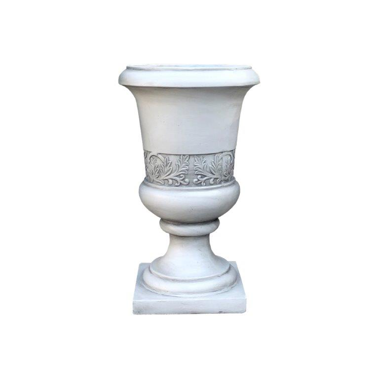 DurX-litecrete Lightweight Concrete Tall Fancy Urn Light Grey Planter-Large