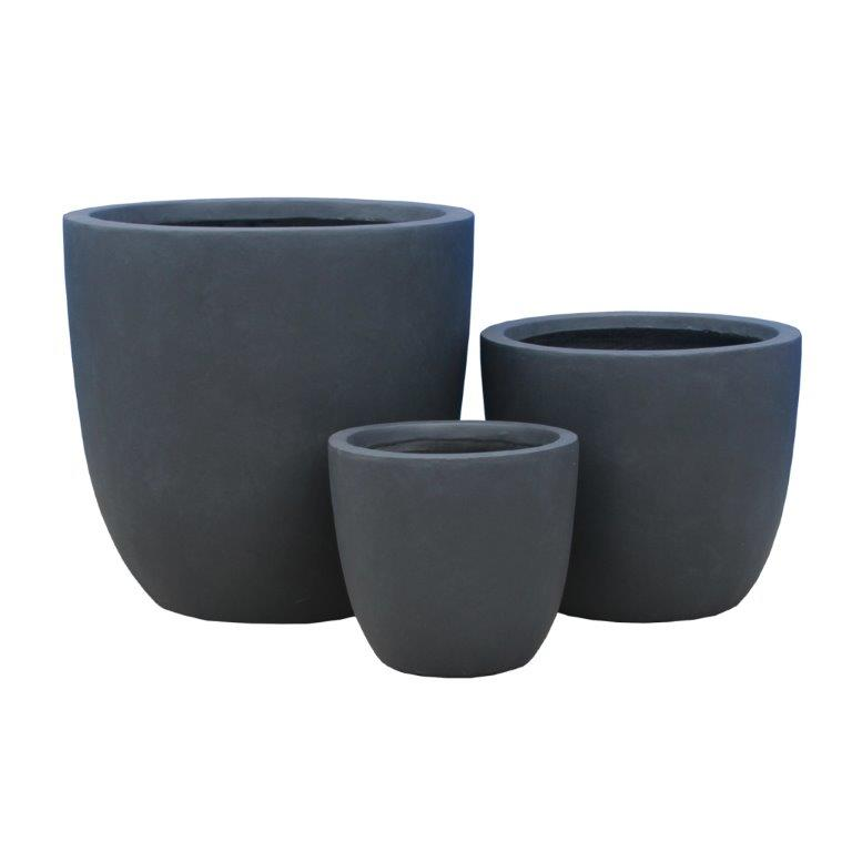 DurX-litecrete Lightweight Concrete Smooth Round Granite Planter