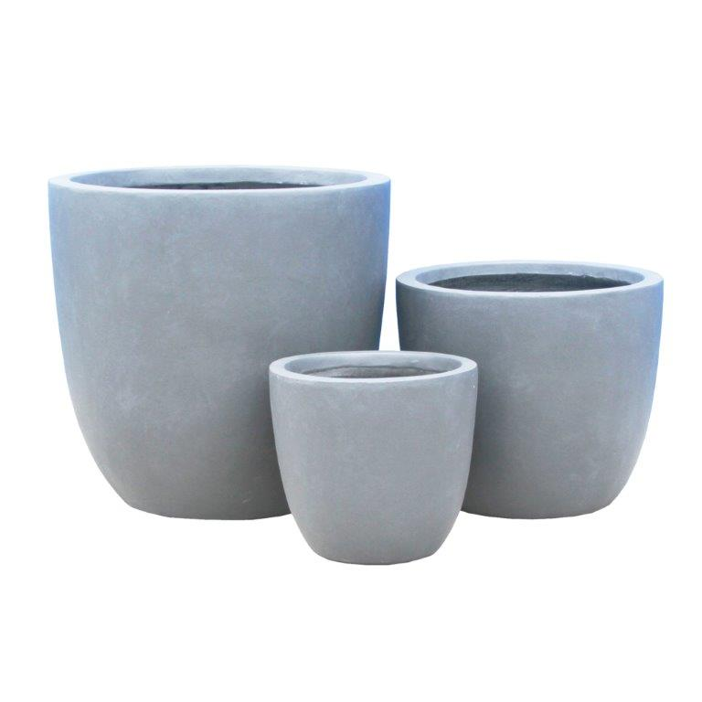 DurX-litecrete Lightweight Concrete Smooth Round Cement Planter