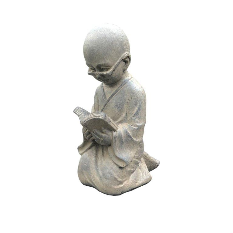 DurX-litecrete Lightweight Concrete Little Monk Buddha Soil Rust Sculpture