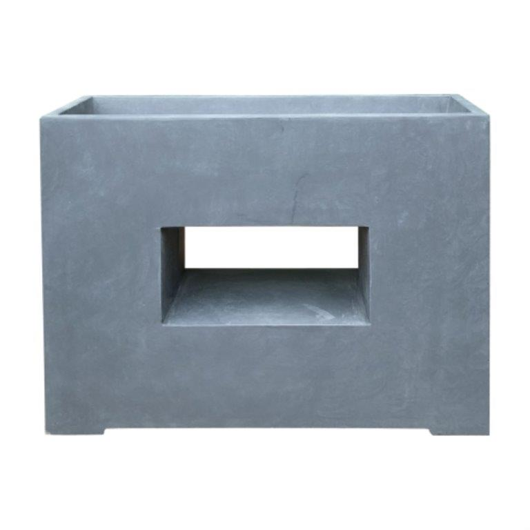 DurX-litecrete Lightweight Concrete Rectangular Platform Granite Planter
