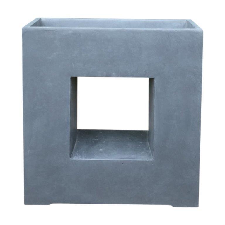 DurX-litecrete Lightweight Concrete Square Platform Granite Planter
