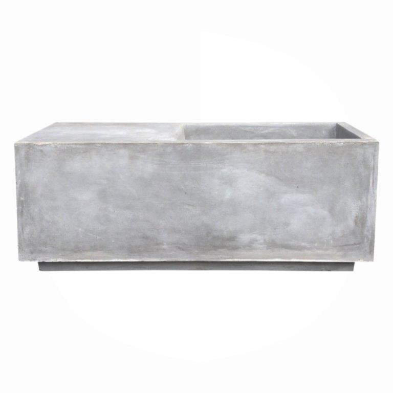 DurX-litecrete Lightweight Concrete Long Multi-function Light Grey Planter