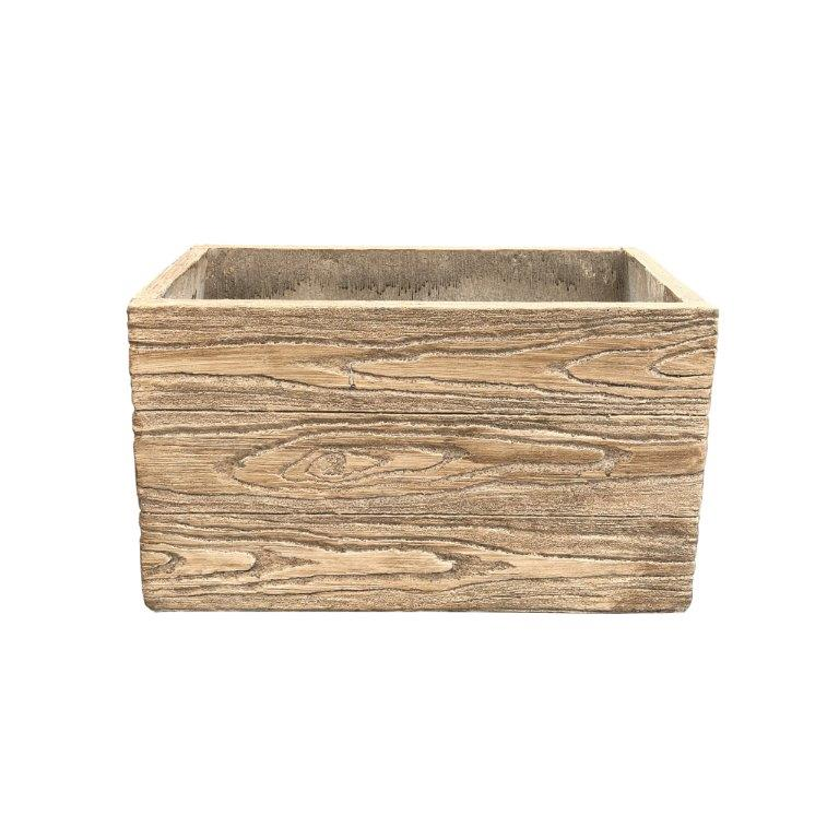 DurX-litecrete Lightweight Concrete Natural Wood Grain Box Cedar Wood Color Planter