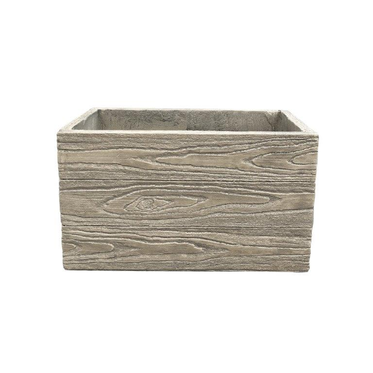 DurX-litecrete Lightweight Concrete Natural Wood Grain Box 11x19x11 Poplar Tree Color Planter