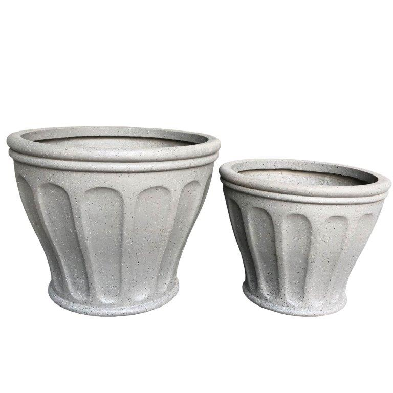 DurX-litecrete Lightweight Concrete Footed Flute Grey 