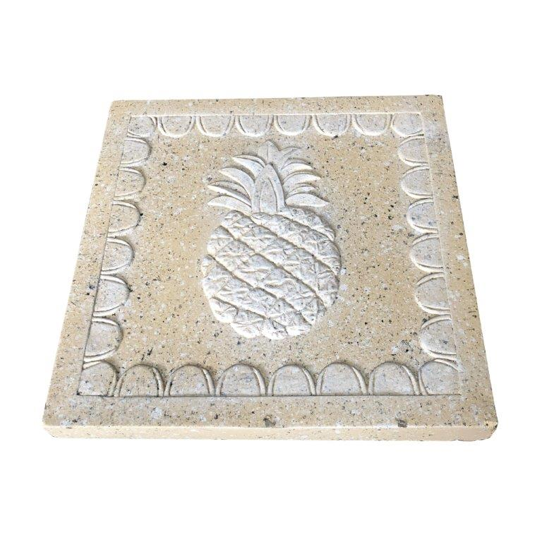 DurX-litecrete Lightweight Concrete pineapple Square Sandstone Stepping Stone - Set of 2